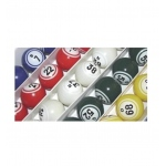 Casino Supply Bingo Balls - Colored & Coated Double Numbered Ping Pong Size