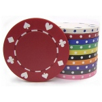 Casino Supply 11.5 Gram Suited Poker Chips: White, 25 per Package