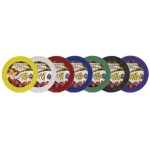 Casino Supply 7.5 Gram Showgirl Poker Chips: Red - $5, 25 per Package