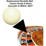 Casino Supply Roulette Ball (Pill): 9/16 Inch, 20 to 25 Inch Wheels