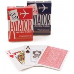 Aviator Poker, Jumbo Index, 12 Decks Red Blue