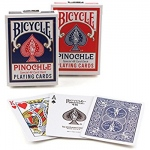 Bicycle Pinochle, Standard Index, 6 Decks Red/Blue