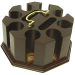 Casino Supply Dark Hardwood 200 Poker Chip Carousel