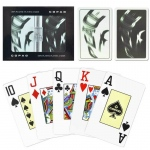Casino Supply Copaq Peace Black & White Narrow - Jumbo Index Playing Cards