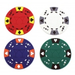 Casino Supply Poker Chip Drink Coasters: Pake of 4