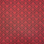 Casino Supply Two-Tone Suited Speed Cloth: Red, Sold per Running Foot