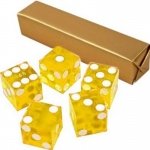 Casino Supply New Casino Dice: Yellow, Serialized, 3/4 Inch, Set of 5