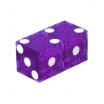 Casino Supply Used Casino Dice: Purple, Matched Pairs, 3/4 Inch