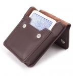 Copag 4 Color Jumbo Index single deck - Blue in leather case
