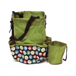 Casino Supply 10 Pocket Bingo Ball Designer Bag with Coin Purse: Green